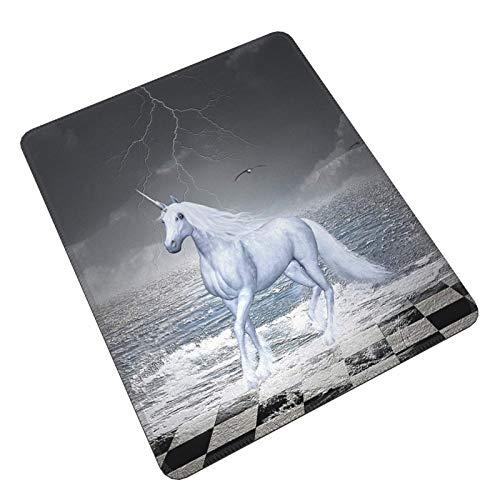 Mar en tablero de ajedrez con un unicornio caballo Gaming Mouse Pad Alfombrilla de ratón personalizada alfombrilla de ratón para ordenador portátil PC teclado