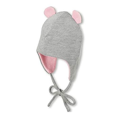 Sterntaler Inka-Mütze für Mädchen mit abstehenden Öhrchen, Gefüttert, Alter: 18-24 Monate, Größe: 51, Grau (Silber)