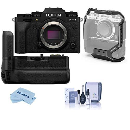 Fujifilm X-T4 Mirrorless Digital Camera Body, Black Vertical Battery Grip, Cleaning Kit, Microfiber Cloth