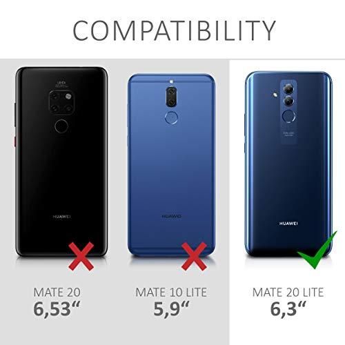 kwmobile Huawei Mate 20 Lite Hülle - Handyhülle für Huawei Mate 20 Lite - Handy Case in Fee Glitzer Design Rosegold Transparent - 6