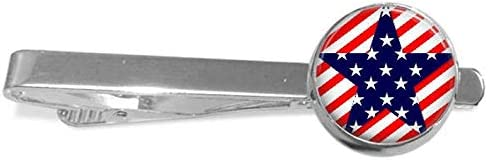 Death Devil Patriotic American Flag Tie Clip Manual July 4 Paper Clip