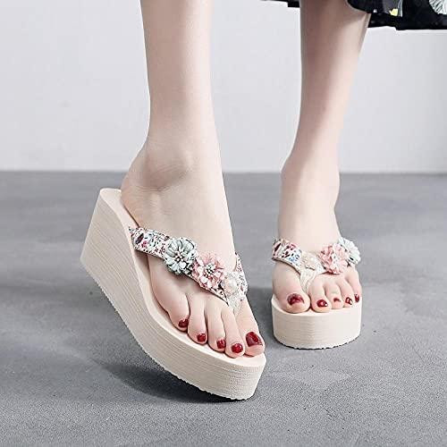 COQUI Femme Plateforme,Pantoufles Femelle Summer Fashion Porte la Plage de mer Sauvage Plage de...