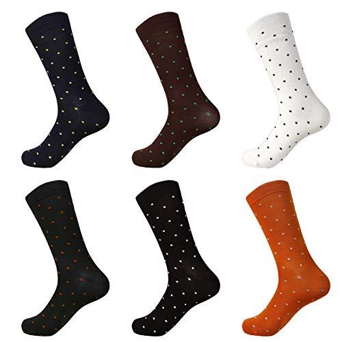 ILUVIT Men Cotton Dress Socks Funny Crew Socks Colorful Socks Men's Dress Socks