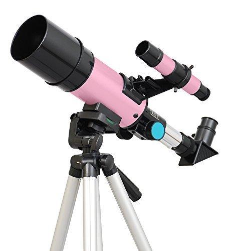 TwinStar 60mm Refractor Telescope pink