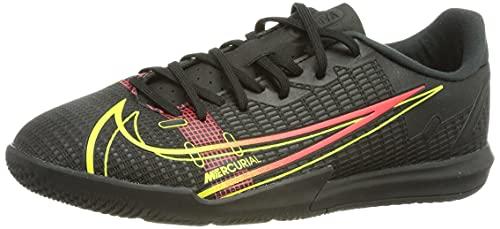 Nike JR Vapor 14 Academy IC, Scarpe da Calcio, Black/Cyber-off Noir-Rage Green-Siren Red, 32 EU