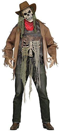 shoperama Wanted: Dead Or Alive Zombie 3D Kostüm für Herren Horror Cowboy Halloween, Größe:XL