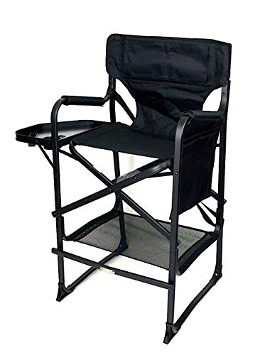 Deluxe TuscanyPro Portable Big Daddy Heavy-Duty Tall Director Chair - Perfect for Events - 29 Inch Seat Height - 10 Years Warranty - US Patented-A Bonus ONE Color Name/Text Included