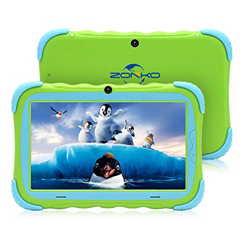 "Kids Tablet, 7"" HD Display with Kid-Proof Case(Green)"