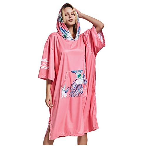 Yowablo Unisex Rash Guard Sonnencreme Surfen Schnorcheln Tauchen Schnelltrocknende Handtuchkleidung (1Stck,Rosa)
