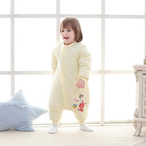 Unisex baby inbakerdekens, kinderen katoenen quilt-bever geel_90 meter 1-2 jaar, pasgeboren baby dikke warme slaapzak