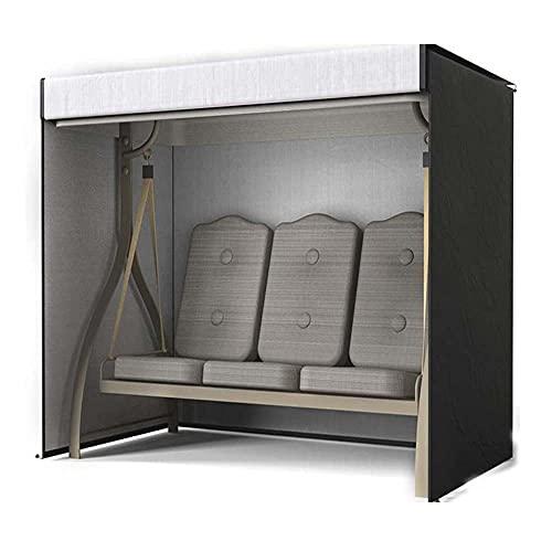 Stootrel Hollywoodschaukel Schutzhülle 3 Sitzer Abdeckung für Gartenschaukel 420D Oxford Wasserdicht Schaukelstuhl Schaukel Abdeckhaube Gartenmöbel (Größe : 220X125X170CM)