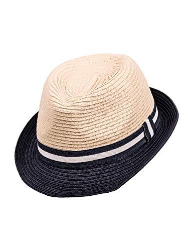 maximo Jungen Trilby Hut, Mehrfarbig (Natur/Navy 3848), (Herstellergröße: 55)