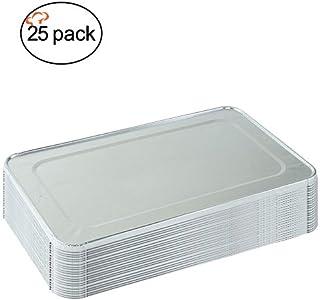 tigerchef papel de aluminio tapas para mitad tamaño mesa de vapor Sartenes con receta Tarjeta