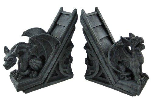 Gothic Gargoyle Sculptural Bookends Book Ends
