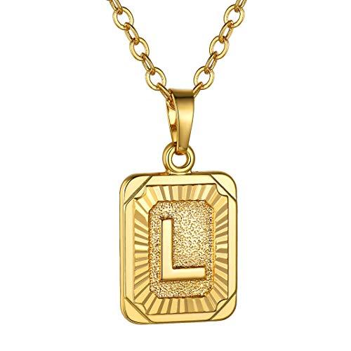 Customizable Letter L Necklace, Gold Initial Alphabet Necklce