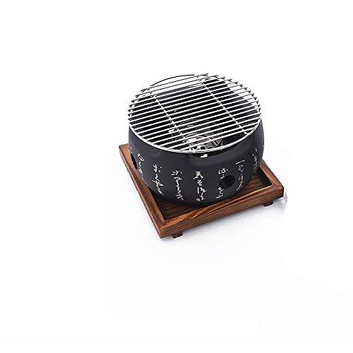 Kreativer runder Text-Ofen BBQ-Tischgrill Japanische Küche Holzkohleofen Grillofen Erleben Sie japanische Grills und Tischherde Für 2-4 Personen Holzkohlegrill 20CM C C
