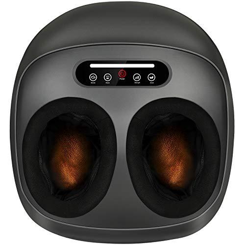 Appareil de massage des pieds Shiatsu électrique avec fonction chauffante, massage des pieds électrique avec roulettes, pétrissage et compression dair, amélioration de la circulation sanguine