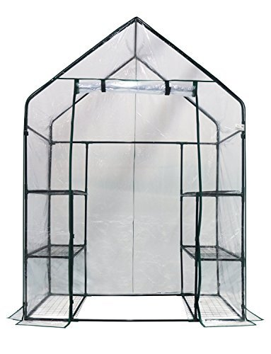 Homewell Walk-in Greenhouse 3 Tiers 6 Shelves, 56' W x 29' D x 77' H