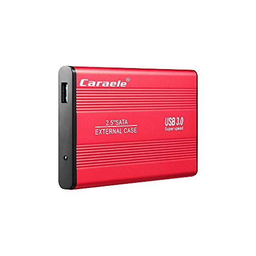ZED- Portable Unidad de Disco Duro Externa de 500GB/1TB/2TB, HDD, USB 3.0 para PC, Ordenador portátil