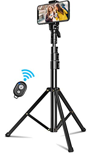 Cocoda Handy Stativ, Selfie Stick Stativ, 133 cm Erweiterbar Stativ zum Live-Streamen, mit Bluetooth-Fernauslöser, für iPhone 11 Pro Max/XS Max/XR, Samsung S20/S10, Note 10 Plus, Gopro Action Kamera