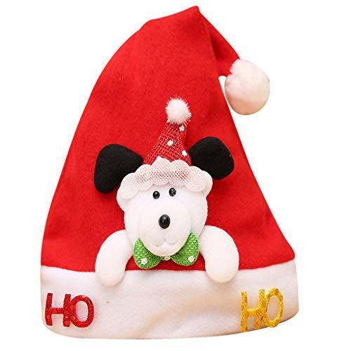 UFODB Weihnachtsmütze Kinder Baby Nikolausmütze Rot Santa Hat Weihnachtsmannmütze Weihnachtsmützen Nikolaus Mütze Xmas Mützen Tiere Dekoration Weihnachtsmütze für Baby