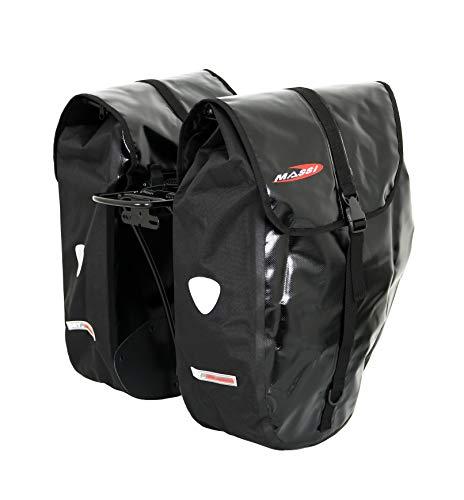 Massi Cm226 Bolsa para Bicicleta con Doble alforja, Deportes y Aire Libre, Negro, u
