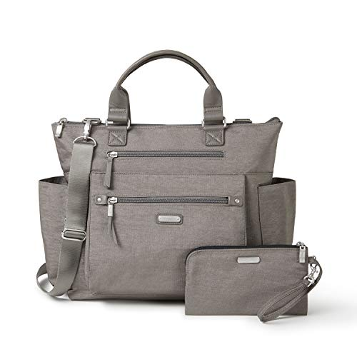 Baggallini Women's 3-in-1 Convertible Backpack, Sterling Shimmer, One...