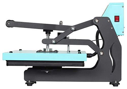 RICOO T438M-TB Transferpresse mit Öffnungsautmatik Textilpresse Textildruckpresse Klappbar Thermopresse Transferdruck Bügelpresse Textil T-Shirtpresse Sublimationspresse/Türkis-Blau - 8