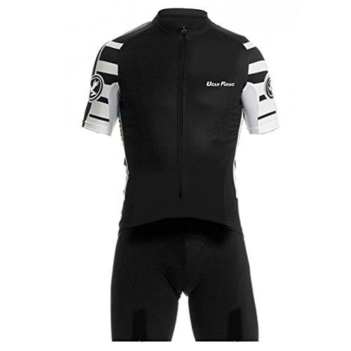 Uglyfrog Sommer Herren Männer Radfahren Trikots & Shirts+Trägerhosen Gepolsterter Prämium Triathlon Tri Anzug Kompression Duathlon Laufen Fahrradfahren Skinsuit
