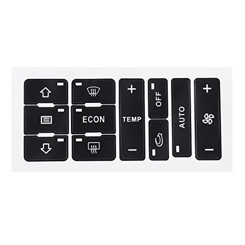 CCChaRLes Etiquetas Engomadas De La Reparación Del Botón Del Coche A/C Interruptor Del Calentador Botón De Control Etiqueta De La Reparación Conjunto De Pegatinas