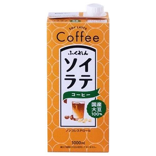 ふくれん 国産大豆100% ソイラテコーヒー 1000ml紙パック×12(6×2)本入×(2ケース)