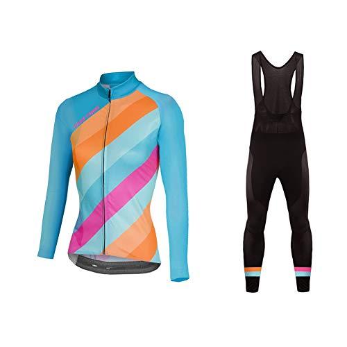 Uglyfrog Women Mountain Bike/MTB Shirt,Bib Pant Set Reflective Biking Clothes