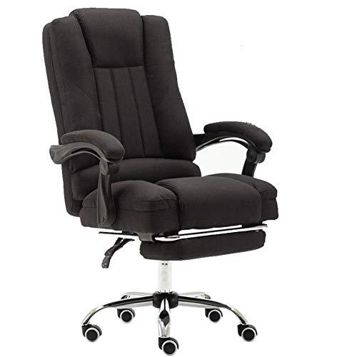 PC Gaming Chair Silla de Oficina Simple Home elevacion funcion de rotacion Tela del pano Ordenador Silla con Masaje Juego Catedra de Color Rosa Gaming Chair RVTYR (Color : Black)