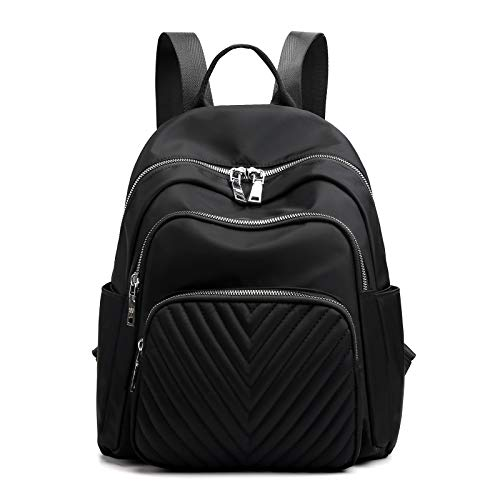 BMVMB Nylon Women Backpacks Casual Lightweight Strong Small Backpacks Fashion Rucksack Daypack for Women Lade Girl Teenager