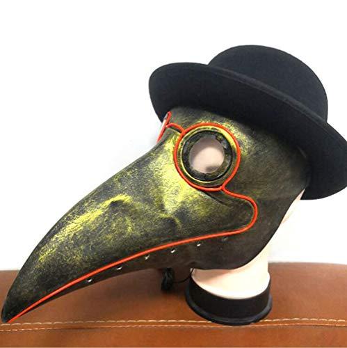 HANJIAJKL Halloween Pest Schnabel Arzt Maske Prom Festival Party Supplies Leuchtende Maske,Masken/Partyhüte, Partymasken & Zubehör,Party Masken Erwachsene,1