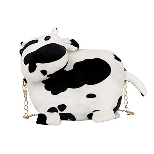 PTMD Damen-Handtasche mit Kuh-Motiv, Umhängetasche, Handtasche, Kette