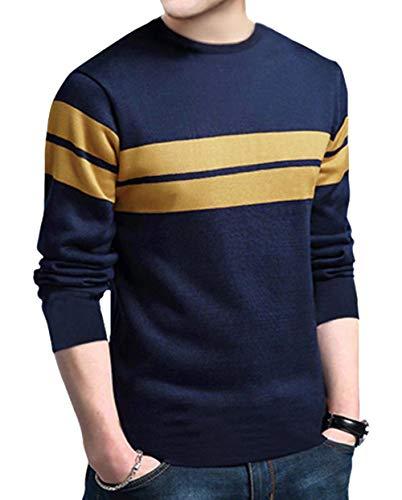 EYEBOGLER Regular Fit Men's Cotton T-Shirt (EBT229-NBLM)