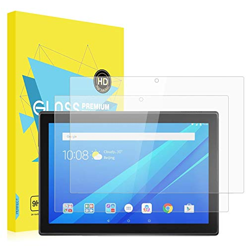 [2 Packs] MoKo Lenovo Tab 4 10 Inch Screen Protector - [Scratch Terminator] Anti-Bubble Premium HD Clear 9H Hardness Tempered Glass Screen Protector Film for Tab 4 10 Inch Tablet, Crystal Clear