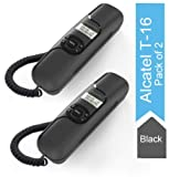 Alcatel T-16 Black Corded Landline Phone with Caller ID and Hands-free Function