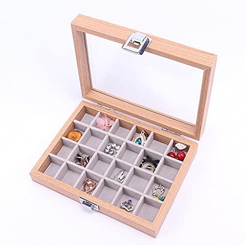 Caja de almacenamiento de pendientes transparente joyería collar anillo, pendientes, exhibición de la joyería caja de joyería caja de joyería caja de joyería-rosa