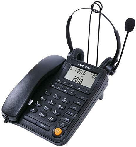 Teléfono Teléfono para teléfono / Teléfono inalámbrico, Teléfono inalámbrico, Teléfono fijo, Teléfono de Oficina SpeakerPhone Call Centre Teléfono Con Hands Free Auricular, Teléfono con cable Conspald