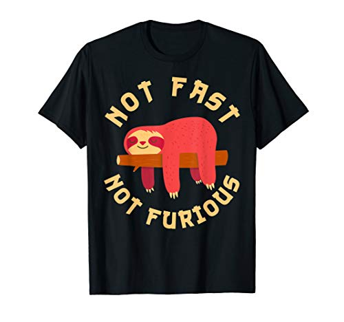 not fast not furious funny cute sloth gift T-Shirt