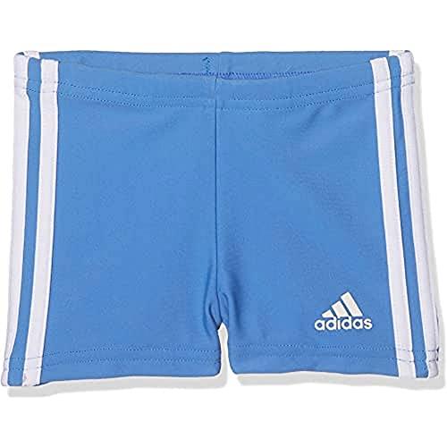 adidas INF 3S BX KB - Badeanzug Kinder, Farbe: blau/weiß, Größe 74