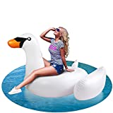 Inflatable Swan Pool Floats for Adults, with Durable Handles,Swimming Pool Inflatables Ride-on Pool Toys ,Summer Pool Raft Lounge,Water Toys Lounger Rafts Hammock