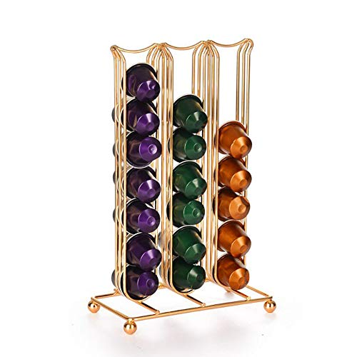 Nespresso OriginalLine Coffee Pod Rack-Holder for up to 42 Capsules Storage Holder Organizer,Coffee Lover Best Gift(Does NOT fit K-Cups, Works ONLY with Nespresso OriginalLine Capsules)