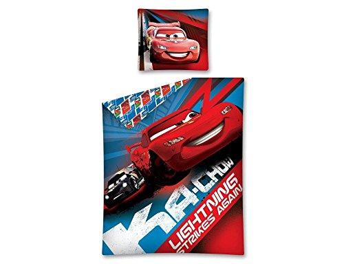 Disney Parure de lit Cars 100% Coton pour Chambre d'enfant 140x200 cm