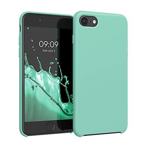kwmobile Custodia Compatibile con Apple iPhone 7/8 / SE (2020) - Cover in Silicone TPU - Back Case per Smartphone - Protezione Gommata Menta Matt