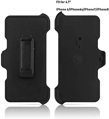 """2 Pack Generic Replacement Holster Belt Clip for Apple iPhone 6/6S/7/8 Otterbox Defender Case(Only 4.7"""")"""