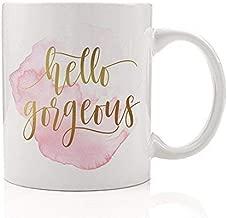Hello Gorgeous Coffee Mug Gift Idea Beautiful Woman Lady Fashion Lover Cute Girl Pretty 11oz Ceramic Tea Cup by Digibuddha DM0157