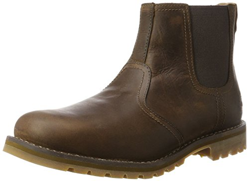 Timberland Larchmont Chelsea Waterproof, Botas Hombre, Marrón (Dark Brown Full Grain), 44.5 EU